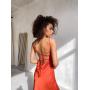 Шелковое бельевое платье со шнуровкой на спине