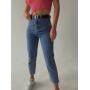 Укороченные джинсы mom высокой посадки