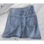 Джинсовая мини юбка с асимметричным поясом
