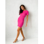 Ярко-розовое платье мини с вырезом на спине