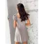 Бежевое короткое платье на пуговицах