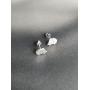 Серебряные серьги гвоздики Ежик