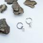 Серебряные серьги кольца 925 пробы с камнем