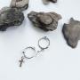 Серебряные серьги крестики 925 пробы маленькие