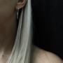 Серебряные серьги 925 пробы с цепочками