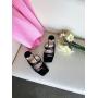 Черные шлепанцы на каблуках Италия