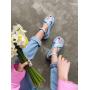 Голубые сандалии на толстой подошве Италия