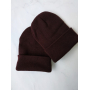 Шоколадная шапка бини