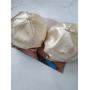 Атласная женская кепка бейсболка телесного цвета