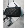 Черная стеганая маленькая сумка через плечо на цепочке в стиле Chanel