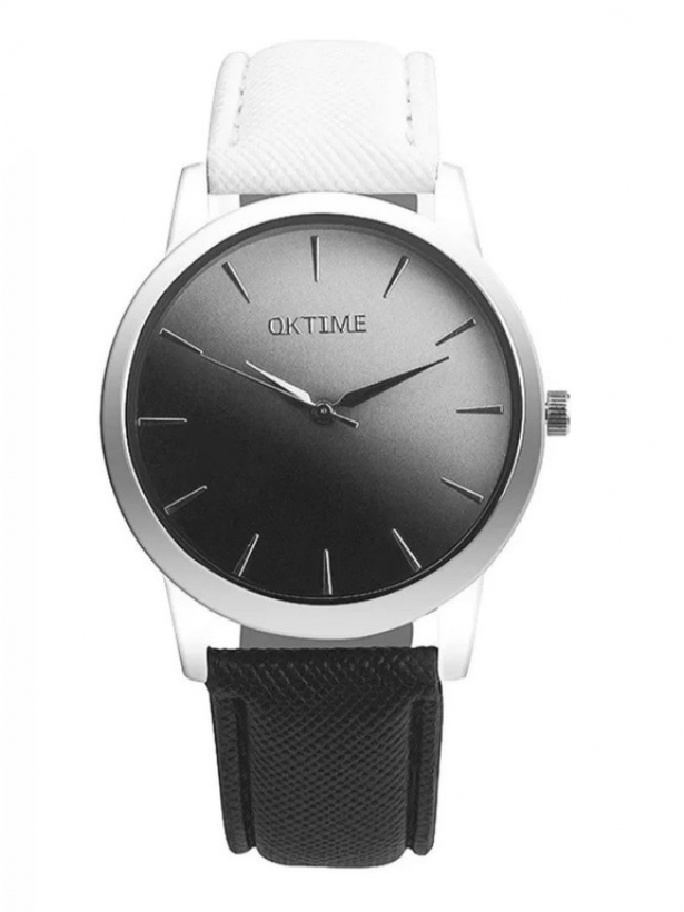 Черно-белые часы с градиентом