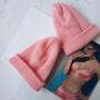 Нежно-розовая шапка бини