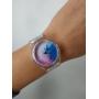 Прозрачные силиконовые часы с цветным градиентом