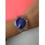 Прозрачные силиконовые часы с принтом космос