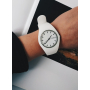 Силиконовые белые часы Geneva в стиле sport casual