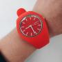 Силиконовые красные часы в стиле sport casual Geneva