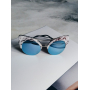Зеркальные очки в мраморной оправе