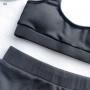 Черный раздельный купальник в рубчик