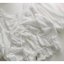 Белый хлопковый кроп-топ с вышивкой