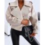 Кожаная куртка косуха модного кроя