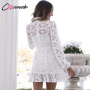 Белое платье из хлопковой прошвы