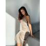 Платье комбинация миди в горошек