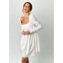 Белое платье бэбидол с драпировкой