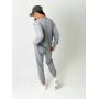 Серый легкий спортивный костюм с вышивкой
