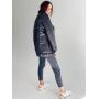 Черная утепленная куртка косуха из плащевой ткани