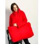 Красный зимний пуховик с сумкой TM ZEFFIR