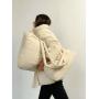 Молочный зимний пуховик с сумкой TM ZEFFIR