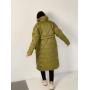 Оливковый стеганный пуховик пальто TM ZEFFIR