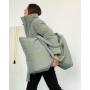 Зимний пуховик хаки с сумкой TM ZEFFIR