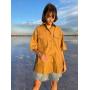 Песочная рубашка-парка с коротким рукавом