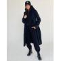 Черное демисезонное кашемировое пальто