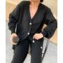 Черный вязаный костюм с кардиганом TM ZEFFIR