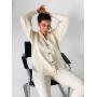 Молочный вязаный костюм с кардиганом TM ZEFFIR