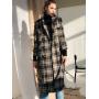 Пальто-тренч из 100% шерсти в клетку