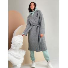 Серое демисезонное пальто миди TM ZEFFIR