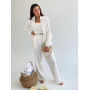 Белый льняной костюм тройка
