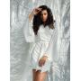 Белое короткое платье-кимоно