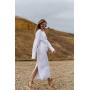 Белый комплект платье и рубашка