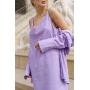 Сиреневый комплект платье и рубашка