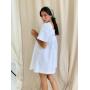 Белое платье мини с рукавами фонариками