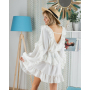 Белое пышное платье с открытой спиной
