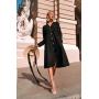 Черное платье миди из плотного льна