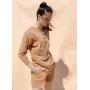 Карамельный костюм шорты и лонгслив