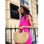 Розовый костюм с брюками палаццо