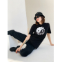 Черная хлопковая футболка Инь Янь