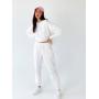 Белый костюм с длинным свитшотом